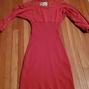 Guess ~ dark salmon colored~ fitted dress xs